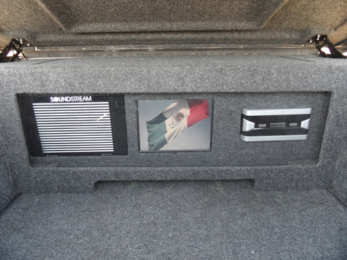Hidden Audio System Under Truck's Trunk