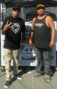 "Noah "" WUV"" Bernardo from P.O.D with Big Boyz Tacos"