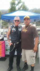 "Robert Patrick, aka "" Les Packer "" from SOA ( Sons Of Anarchy ) with Big Boyz Tacos enjoying our food."