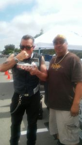 "Robert Patrick, aka "" Les Packer "" from SOA ( Sons Of Anarchy ) with Big Boyz Tacos"